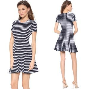 Theory Albita Guarda Striped Knit Dress